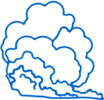 Outline of gas cloud
